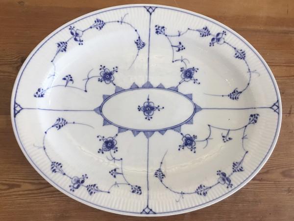 Musselmalet / Blue Fluted: Servierplatte, XL