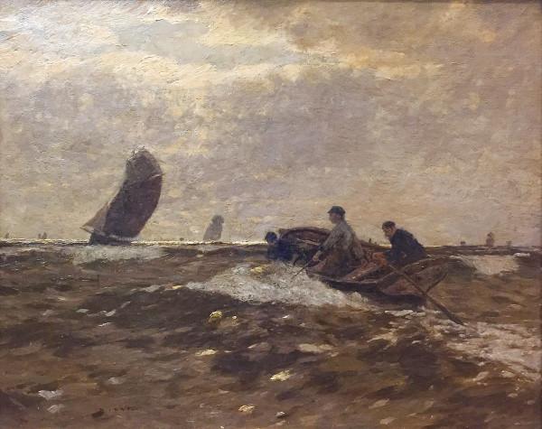 Andreas Dirks (1865-1922): Fischer im Boot