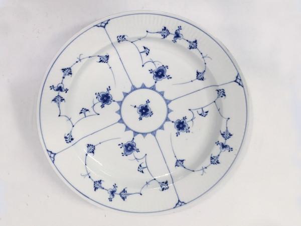 Musselmalet / Blue Fluted: Servierplatte, rund, antik (2)