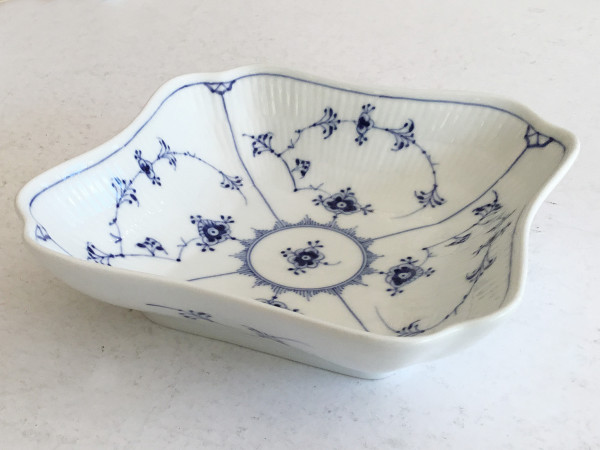 Musselmalet / Blue Fluted: Eckige Schüssel