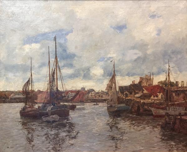 Andreas Dirks (1865-1922): Szene aus einem Hafen