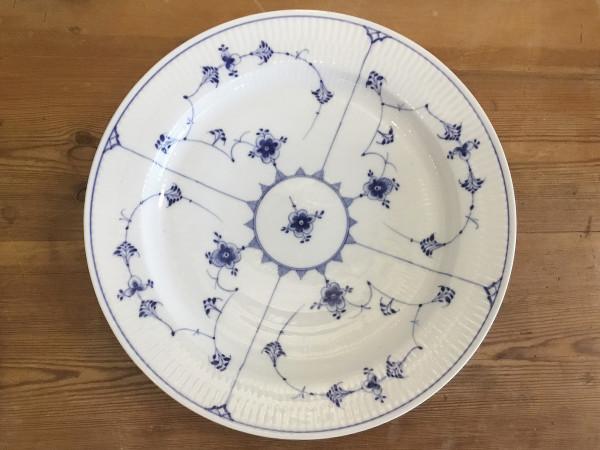 Musselmalet / Blue Fluted: Servierplatte, rund, antik