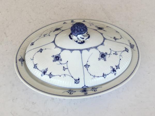 Musselmalet / Blue Fluted: Ovale Schüssel mit Deckel