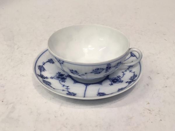 Musselmalet / Blue Fluted: Kleine Teetasse, antik