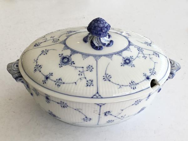Musselmalet / Blue Fluted: Ovale Suppenterrine, groß