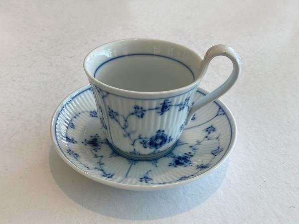Musselmalet / Blue Fluted: Morgentasse, medium
