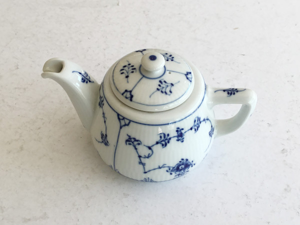 Musselmalet / Blue Fluted: Teekanne, klein
