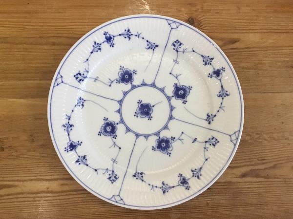 Musselmalet / Blue Fluted: Menüteller, extra flach
